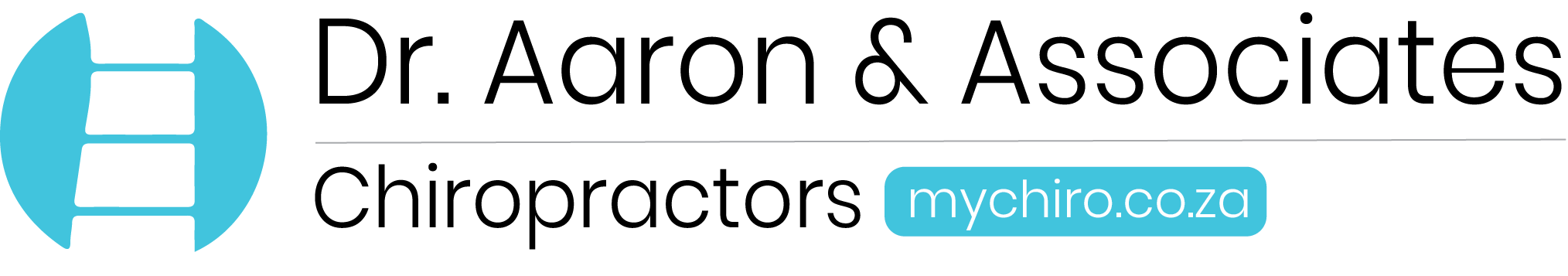 Dr. Aaron and Associates New descriptive and Informative Logo. with dark grey font.